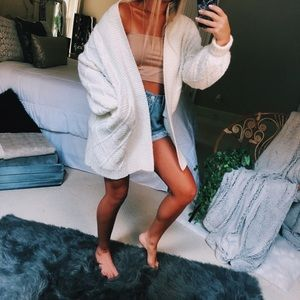 chunky ivory lux knit cardigan